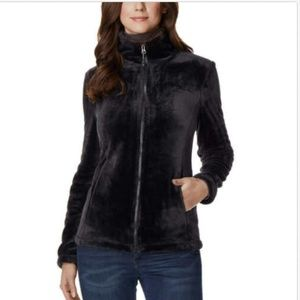 32 Degrees Heat Women Plush Faux Fur Full Zip Mock